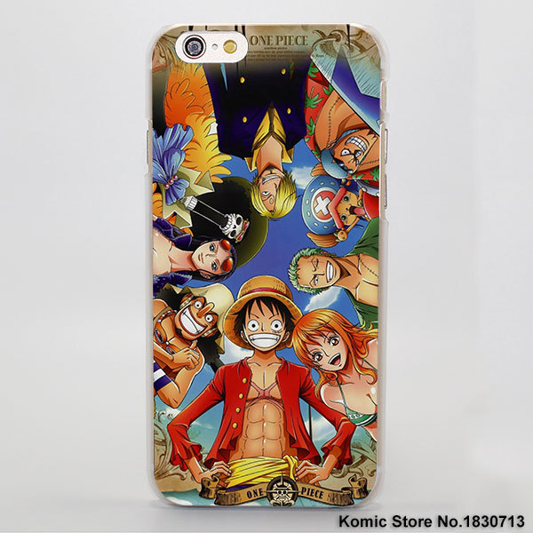 one piece luffy hard transparent cover case for iphone anime crazy store. Black Bedroom Furniture Sets. Home Design Ideas
