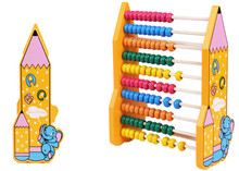 New wooden toy Color box abacus frame wooden shelves are calculated baby toy