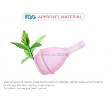 New Medical silicone material Feminine Hygiene lady's period care menstrual cup foldable with valve menstrual cup