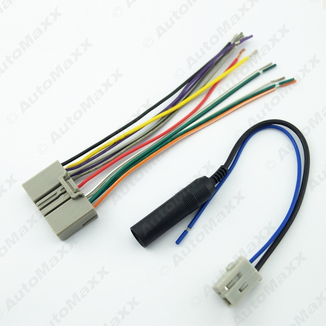 10pcs car audio cd player radio stereo wiring harness. Black Bedroom Furniture Sets. Home Design Ideas