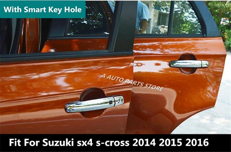 Three Hole For Vitara 2015-2019 ABS Chrome Side Door Handle Cover Decorative Trim 2pcs Car Stytle Accessoies