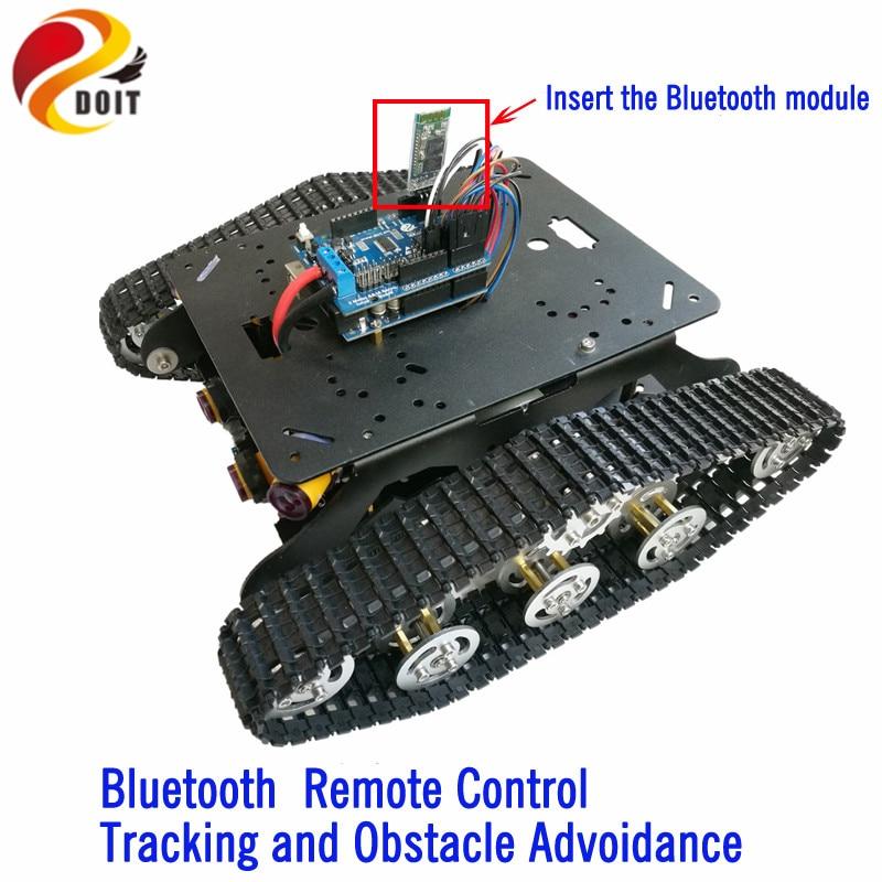DOIT TSD300 Sterowanie Bluetooth / WiFi Crawler Tank Car Vehicle ze - Zabawki zdalnie sterowane - Zdjęcie 2