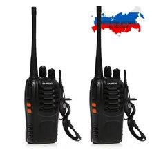 2x Baofeng BF-888S UHF 400-470 мГц 5 Вт CTCSS двустороннюю Любительское Радио 16CH Портативная рация BF 888 S Портативный ручной CB станция домофон