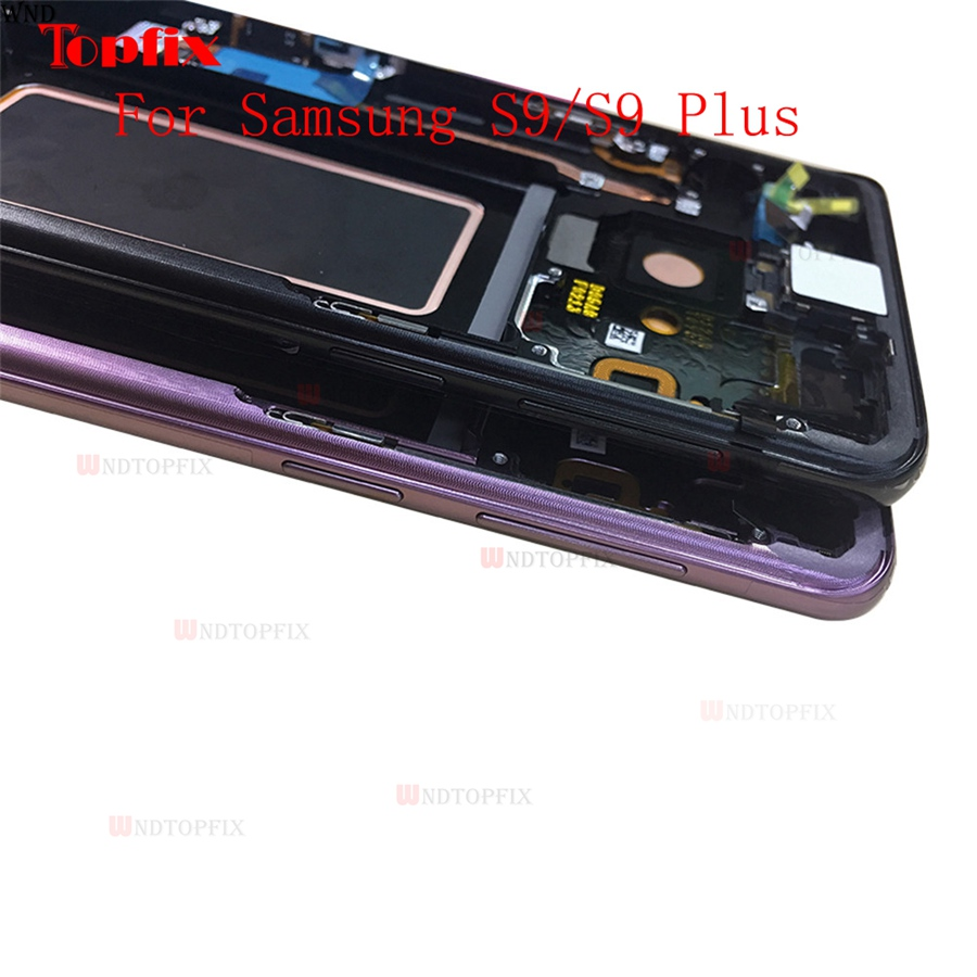 In Stock Super AMOLED For Samsung Galaxy S9S9 Plus G960F G965F LCD Touch Screen Digitizer Assembly With Frame Replacement Parts (5)