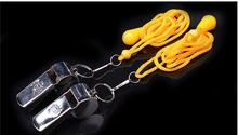 Stainless Iron Referee Whistle Traffic Panic Outdoor Survival Whistle Basketball Football Cheerleading Whistle
