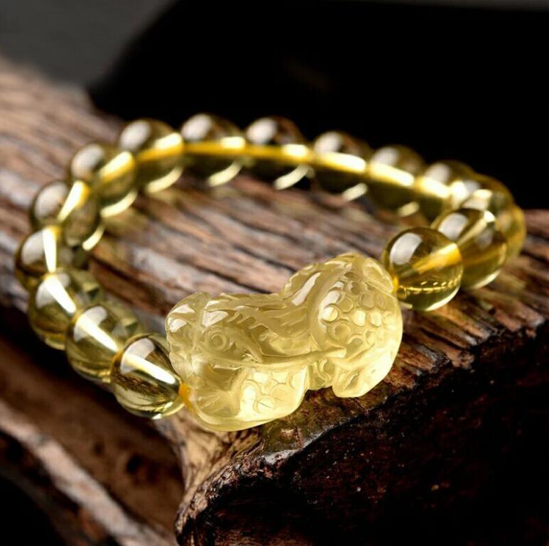 Bracelets en émail naturel hommes et femmes bijoux bracelet en cristal de vent national