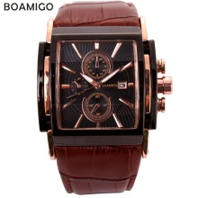 BOAMIGO men quartz watches large dial fashion casual sports watches ro