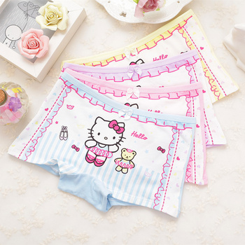4Pcs Cartoon Soft Cotton Girl's Boxer 2-9 Year
