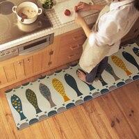45*120cm Creative Fish Pattern Bath Mats Large Rug Absorbent Non slip Floor Mats Bathroom Carpet Home Decoration