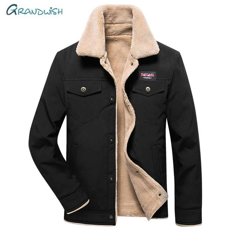 Grandwish Warm Parka Men Jackets And Coats New Brand Parkas Male Winter Fashion High Quality Long Sleeve Slim Outwear,DA924