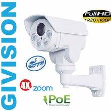 2mp ip camera mini ptz 1080P FULL HD POE ONVIF pan tilt 4x auto zoom outdoor array ir network security surveillance camera ip