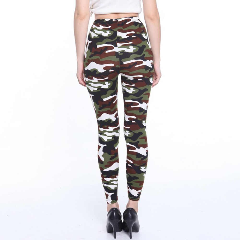 5eaddb0c2d1888 ... Fashion Spring Autumn Women Leggings Elastic High Waist Camouflage Printing  Trousers Slimming Casual Pants JL