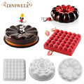 3PCS Bakery Baking Pastry Mould Big Disc ,Bubble,Donut Shape Silicone Mold For Cake Pudding Jello Breads Cornbread Cheesecake