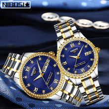 NIBOSI Lovers Quartz Men Watch Women Watch Relogio Feminino Top Brand Luxury Women Watch Gold Quartz Gift Clock Dress Wristwatch 2017 new watch women top brand luxury famous fashion casual wristwatch quartz watch clock ladies dress watch relogio feminino