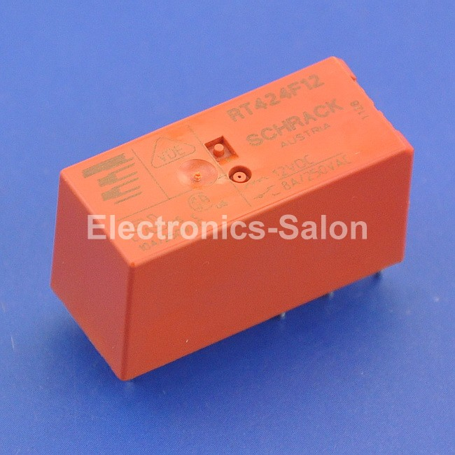 ( 10 Pcs/lot ) TYCO RT424F12 Bistable 2 Coils Latching DPDT Industrial 8A Power Relay,DC12V