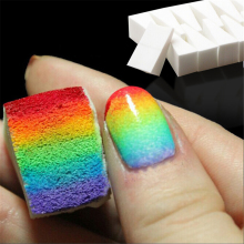 hot deal buy 8pcs gradient nail art soft sponge fade natural magic simple creative nail design manicure tool nail glitter art diy template