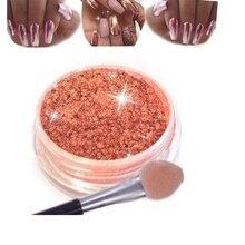 1Box Nail Glitter Rose Gold Mermaid Mirror Pigment Powder Dust Shiny Nails Art Shining Chrome Manicure Tips Gel Polish DIY ногти