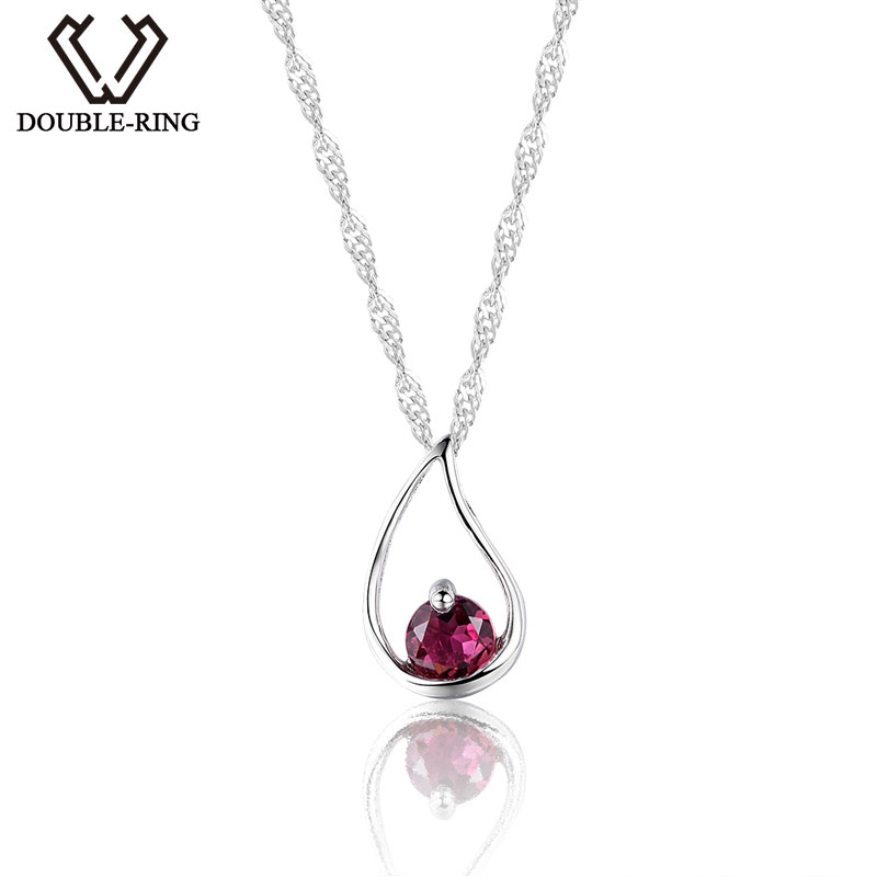 DOUBLE-RING New Charms Pendants Pink Tourmaline Genuine Pendant Water Drop Sterling Silver Jewelry Women Fine Jewelry CAP01644BDOUBLE-RING New Charms Pendants Pink Tourmaline Genuine Pendant Water Drop Sterling Silver Jewelry Women Fine Jewelry CAP01644B