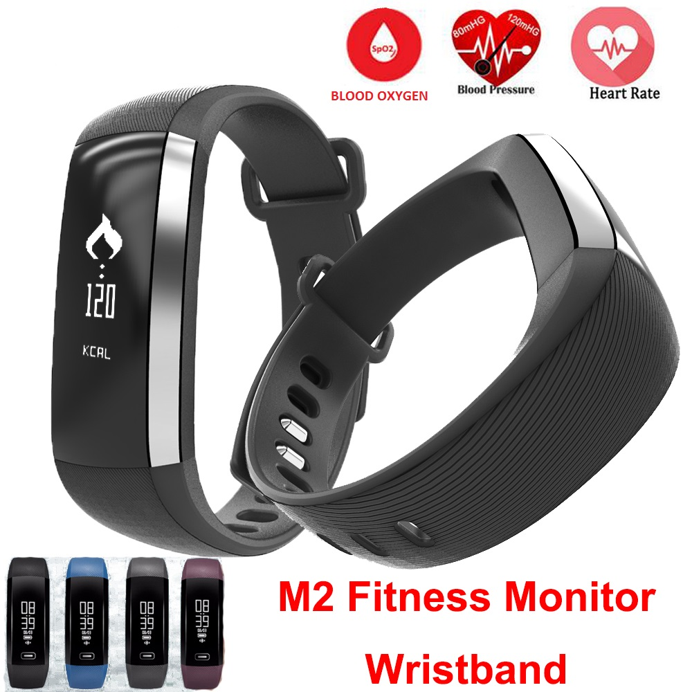 M2P Blood Pressure Wrist Watch Pulse Meter Monitor Cardiaco Smartband Fitness Tracker Smartband For iOS Android Bracelet