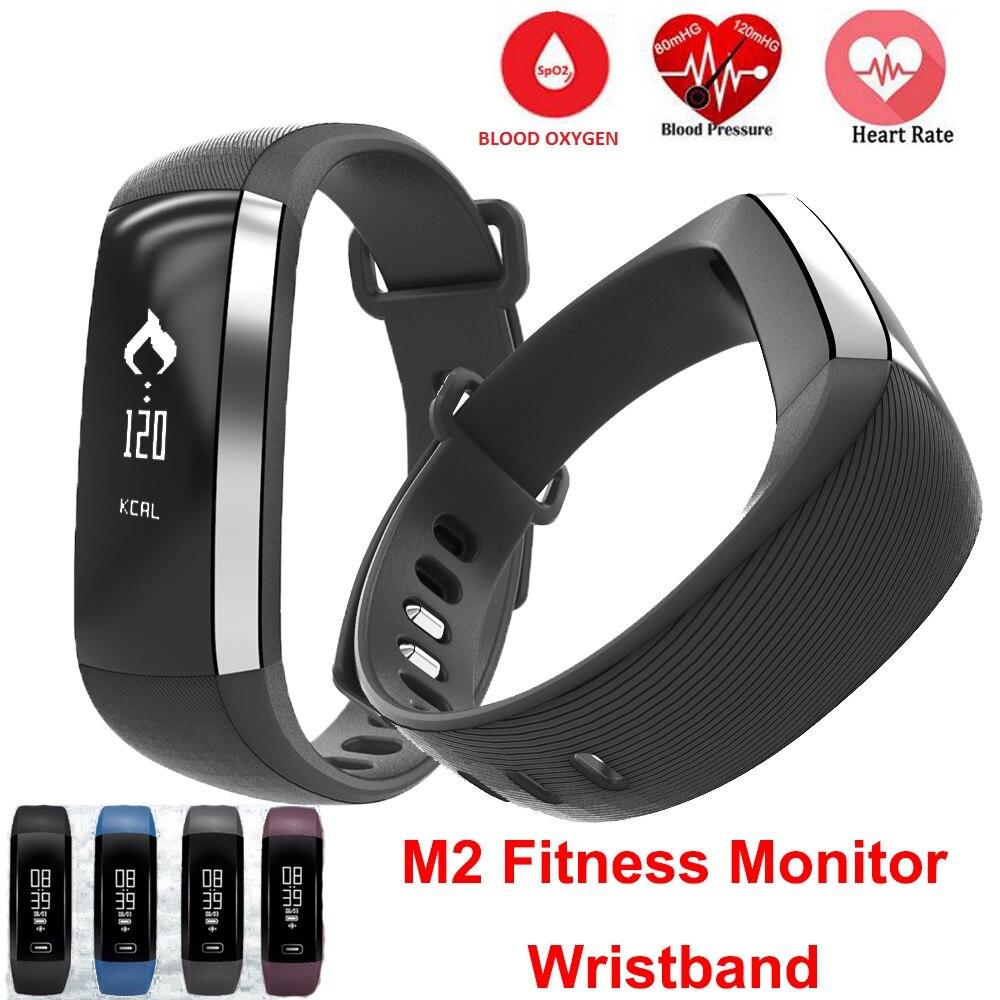 M2P Pressione Sanguigna Da Polso Pulse Meter Monitor Cardiaco Smartband Inseguitore di Fitness Smartband Per iOS Android Braccialetto