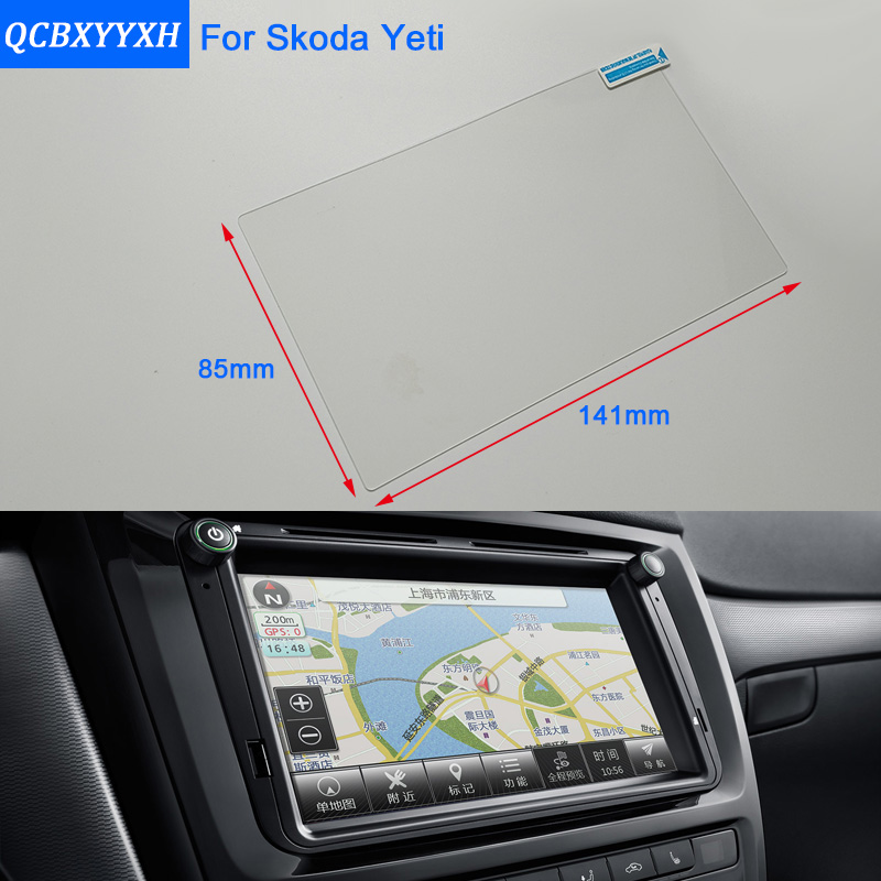 Car Styling 6.5 Inch GPS Navigation Screen Steel Glass Protective Film For Skoda Yeti Control of LCD Screen Car Sticker car mp5 player bluetooth hd 2 din 7 inch touch screen with gps navigation rear view camera auto fm radio autoradio ios
