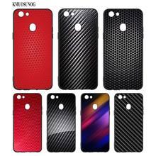 Black Silicon Soft Phone Case Carbon Venom structure Fiber For OPPO F5 F7 F9 A5 A7 R9S R15 R17 Bag