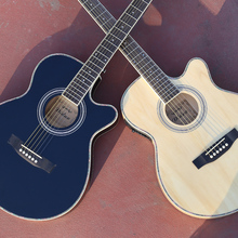 цена на TB 40'' EQ Acoustic Guitar Electric Steel-String Balladry Folk Pop Thin Body Flattop 40 Inch Guitarra Cutaway