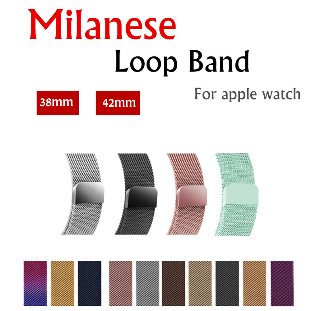 Milanese Loop For Apple Watch band strap 42mm/38mm iwatch 3/2/1 Stainless Steel Link Bracelet wrist watchband magnetic buckle