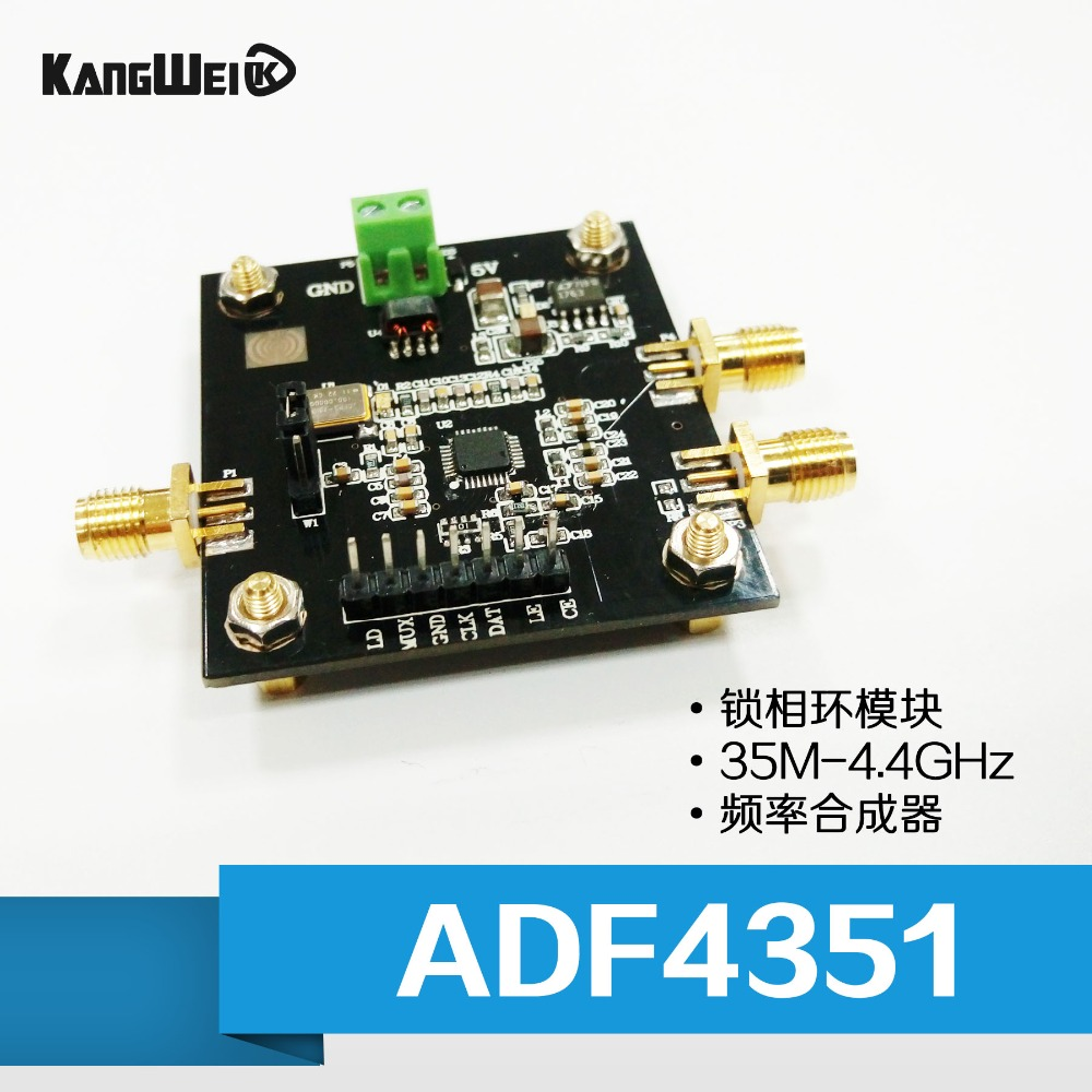 ADF4351 модуль PLL 35 м-4.4 ГГц ADF4350 РФ источник сигнала синтезатор частоты
