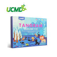 Magnetic Intelligent Educational Puzzle Toys Tangram 7 Piece EVA 3D Puzzle Brain Teaser Jigsaw Learning Game For Children Decor