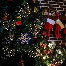 2 м 100 светодиодов теплый белый фейерверк фея свет строки на рождество патио вечеринка ес сша