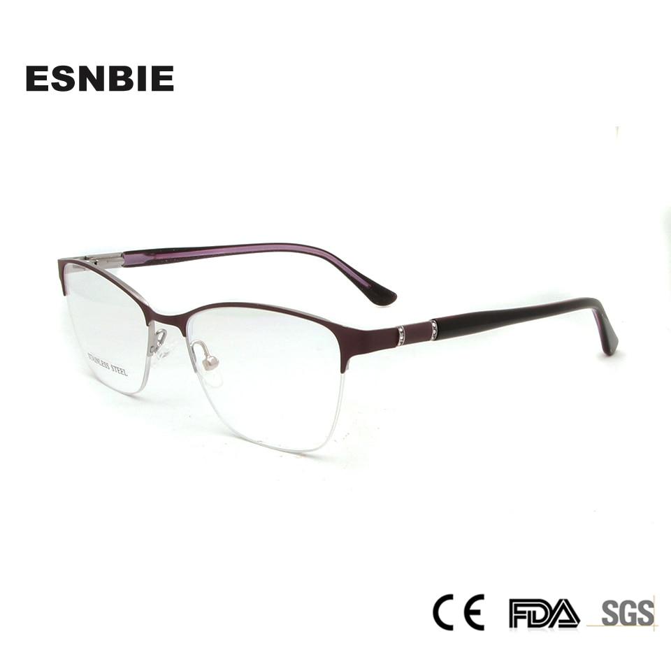 ESNBIE Designer Luxus Brillen Rahmen Frauen Metall Brille Myopie ...