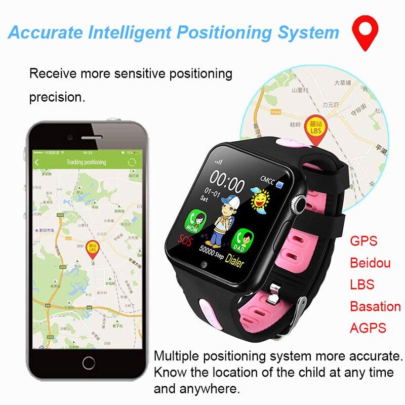 Montre intelligente enfants V5K enfant bande GPS piste Sport enfant Smartwatch étanche Support carte SIM caméra sécurité téléphone bébé montres - 4