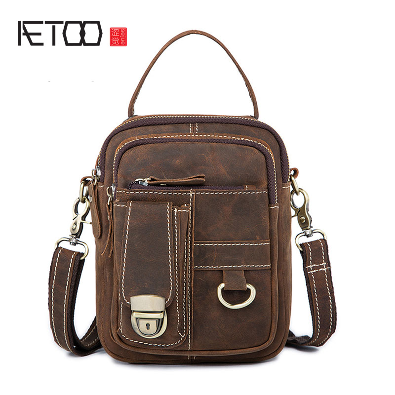 AETOO New mens bags wholesale retro crazy leather mens Messenger bag multi-purpose wear belts purse handbag leatherAETOO New mens bags wholesale retro crazy leather mens Messenger bag multi-purpose wear belts purse handbag leather