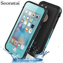 IPhone 7 için artı Su Geçirmez Kılıf Ultra Ince Ince hayat su Toz Şok geçirmez Kılıf Tam Vücut Koruyucu Kapak için iPhone7 7 artı