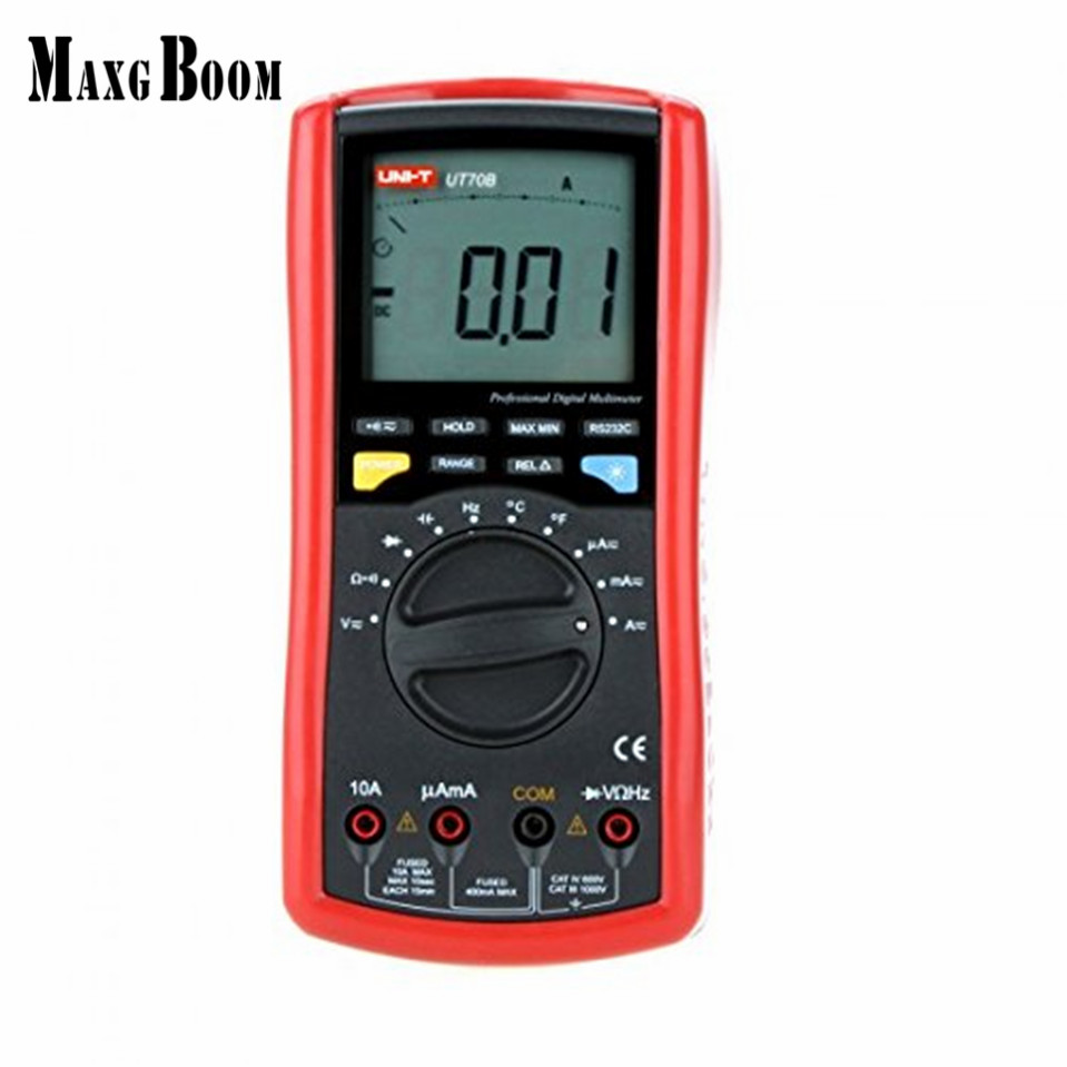 MaxgBoon UNI-T UT70B LCD Digital Multimeter Auto Range frequency conductance logic test transistor temperature analog display uni t ut70b lcd digital multimeter auto range frequency conductance logic test transistor temperature analog display