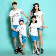 Rainbow Family Shirt 2016 Men Cotton T Shirt Harajuku T-shirt Sport Gym Clothing Skate Tshirt Boy Polera Mother Daughter Outfits