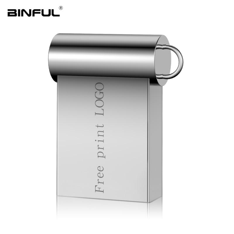 Super Mini Metal Usb Flash Drive 3 0 Pen Drive 16GB 32GB 64GB 128GB U Disk Portable Pendrive 4GB 8GB Flash Memory Free Shipping in USB Flash Drives from Computer Office