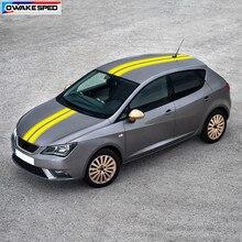 Autocollant de queue de toit de voiture, rayures de Sport, pour Seat Ibiza FR TGI ST Cupra, accessoires de voiture, décor de carrosserie, décalcomanie en vinyle, style de course