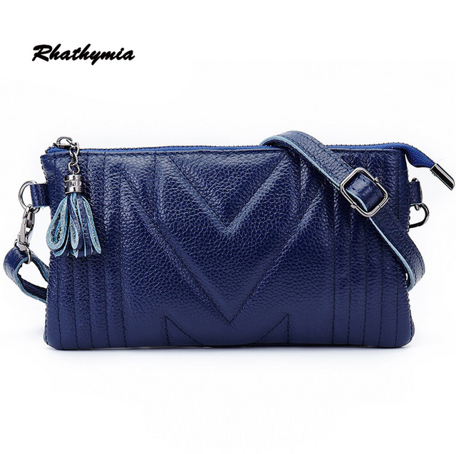 Hot selling genuine leather high quality women's handbag   women messenger bag  wrist bags