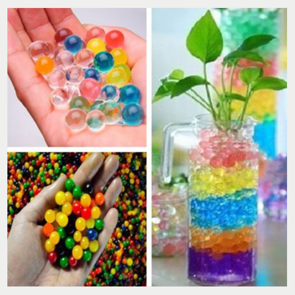 10 pack Magical Water Plant Jelly Crystal Soil Mud Hydro Pearls Beads Balls Flower Plant Home Garden Decor Color Random