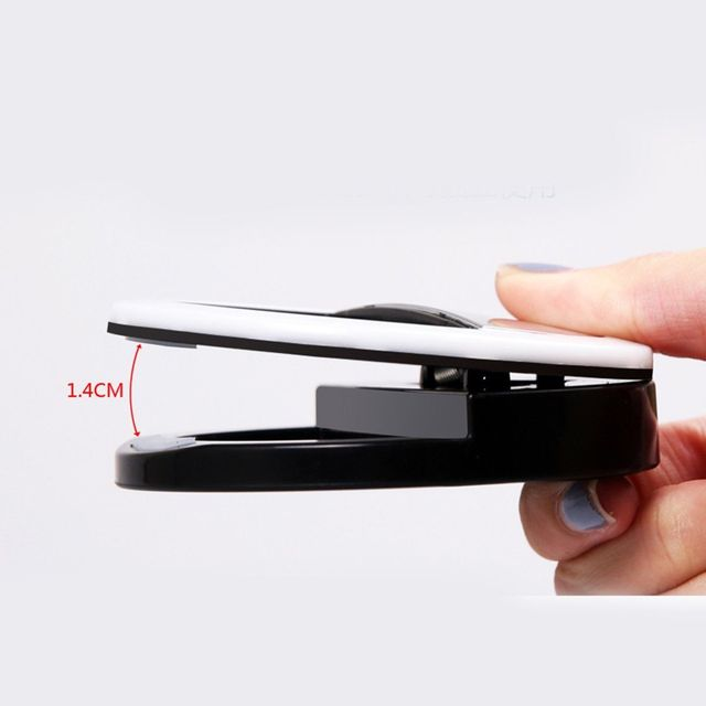 Uniwersalna lampka LED selfie z klipsem iPhone Samsung i inne 4 kolory
