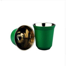 2Pcs Nespresso Concentrat Espresso Italian Stainless Steel coffee Nescafe Double Wall  capsule Tool Sets 2019