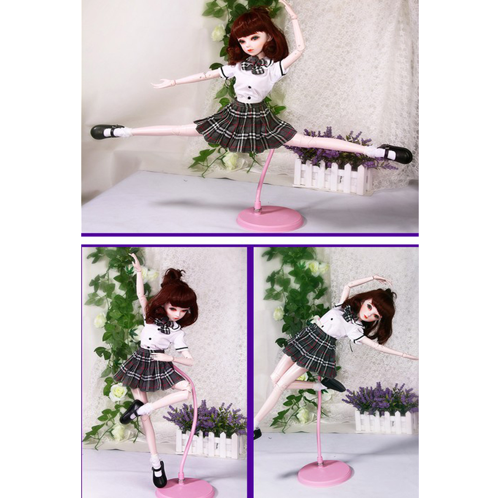 Adjustable Two-in-one Style Display Stand for 1//3 1//4 1//6 BJD Doll Holder #1