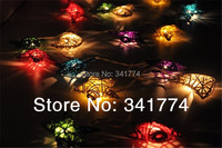 Novelty items LED 20 rattan Pendant Star Strings Holiday Lighting Lights Christmas New Year Party Fairy Wedding Luminaria decor