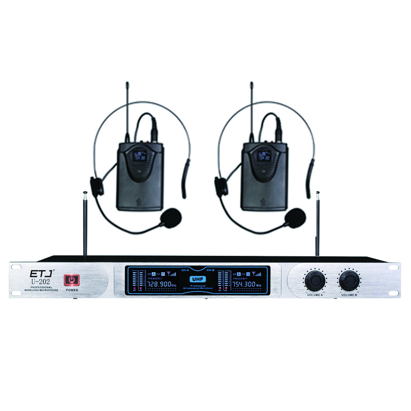 все цены на ETJ U-202 Wireless Microphone with Screen 50M Distance 2 Channel Handheld Mic System Karaoke Wireless Microphone