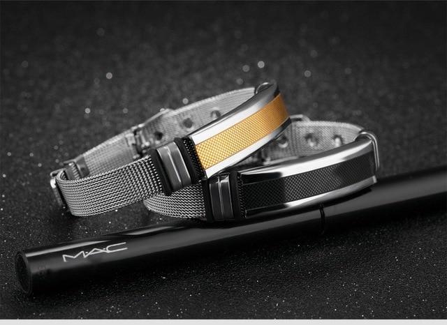 Фото мужской винтажный браслет из титановой стали регулируемый