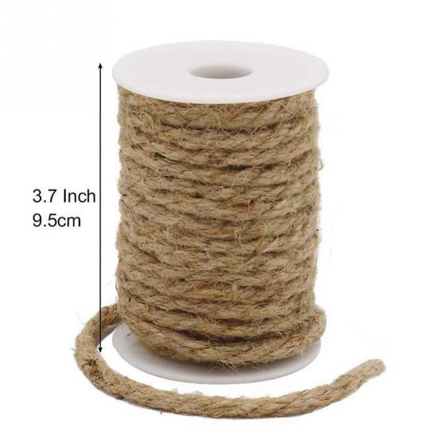 2d70bacd323c Woven 10m/Roll Natural Hemp Rope DIY Tag Label Hang Rope Wedding Home  Accessories Decorative Twine Jute String Gardening Cord