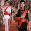 Vstinus European male court dress clothes Marshal Drum dress uniform of a general Prince clothes men stage costume photography