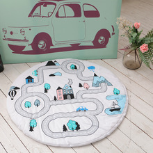Ins Children's Road Game Mats Baby Crawling Mats Rugs Kids Room Decorative Carpet Air Conditioners Cover